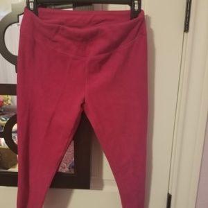 Danskin Pants - pink fuzzy leggings XS